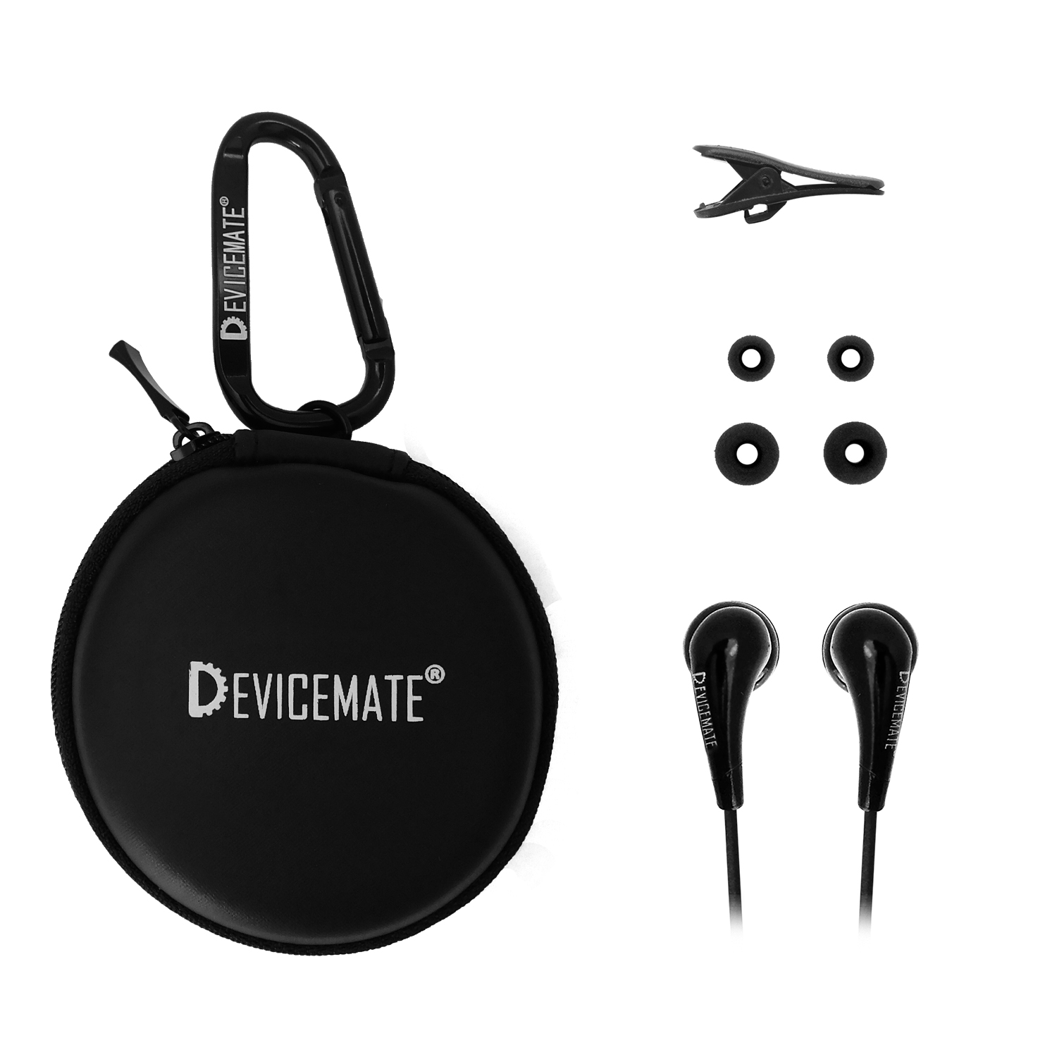 Devicemate SD 255 In-Ear Stereo Earphones [Black] Case