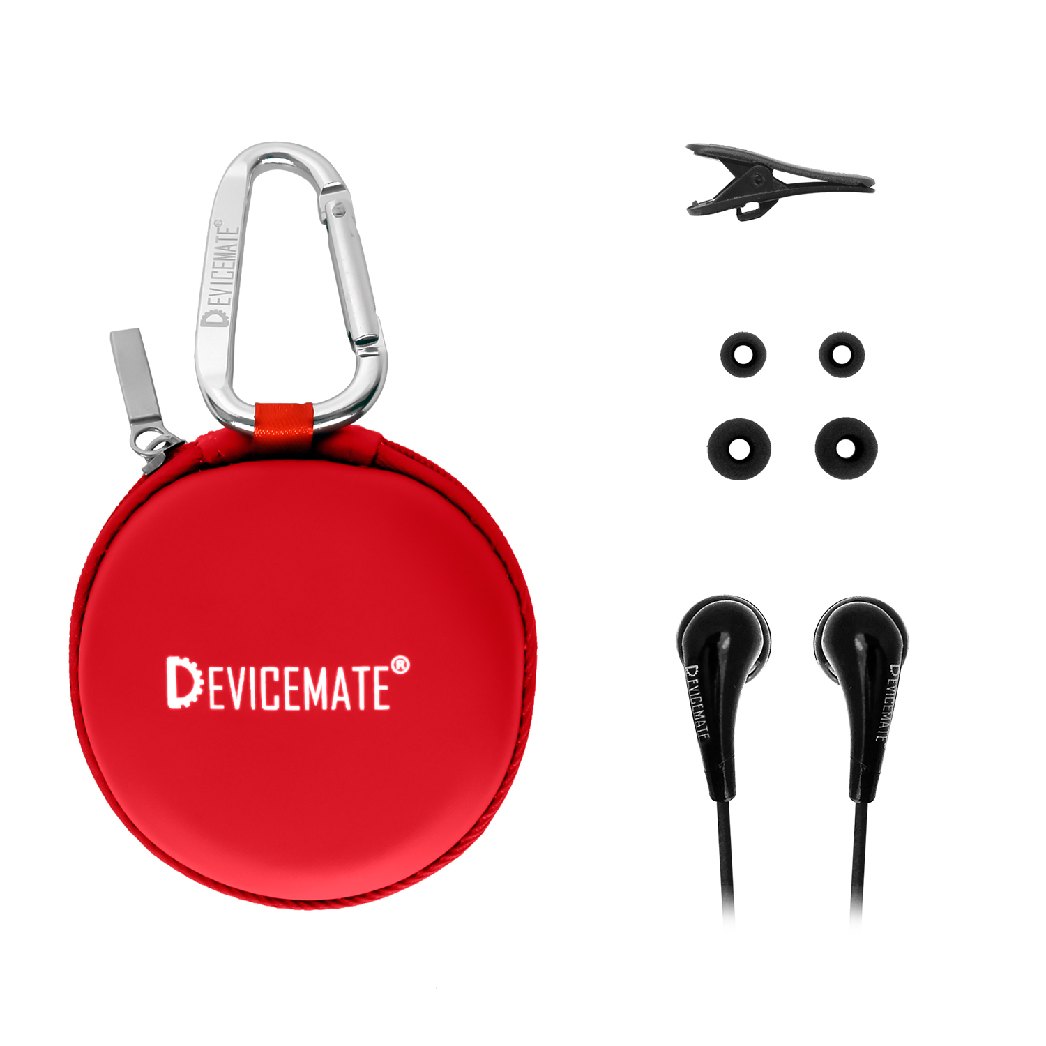 Devicemate SD 255-BRD In-Ear Stereo Earphones Buccaneer Red Case