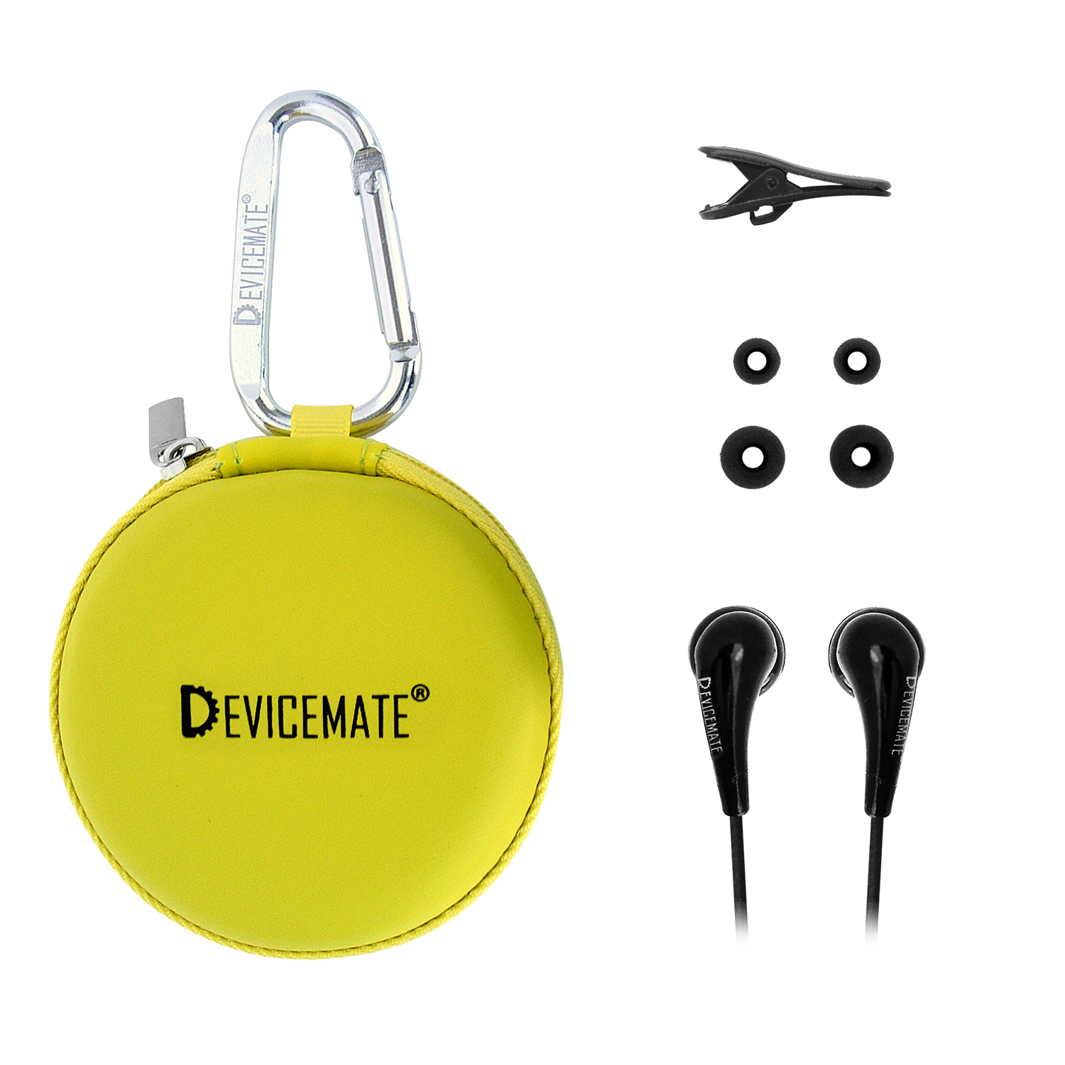 Devicemate SD 255-CLG In-Ear Stereo Earphones [Lime Green] Case