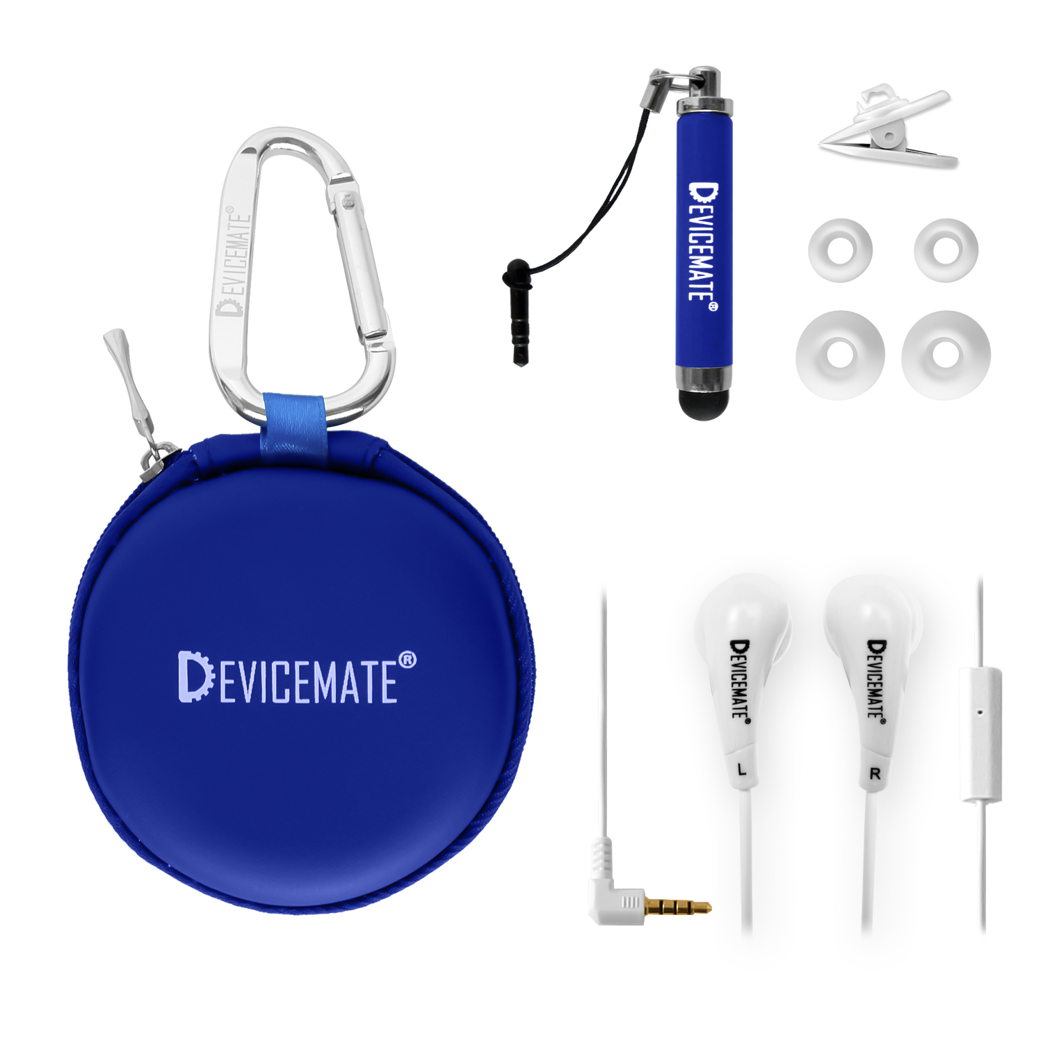Devicemate SD 455-CTB Earphones w/mic for iPhone [CoBlue] Case